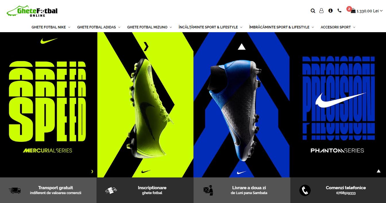 ghete fotbal Nike Adidas Mizuno online