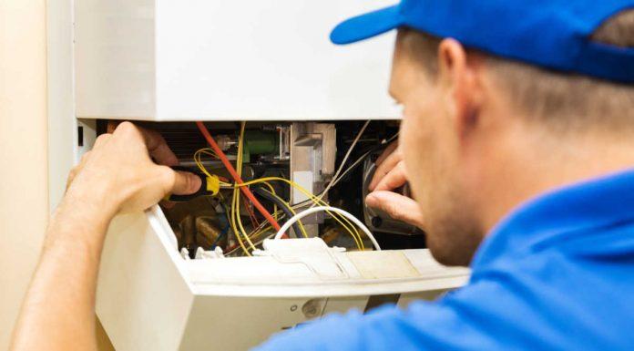 Reparații la centrala termică