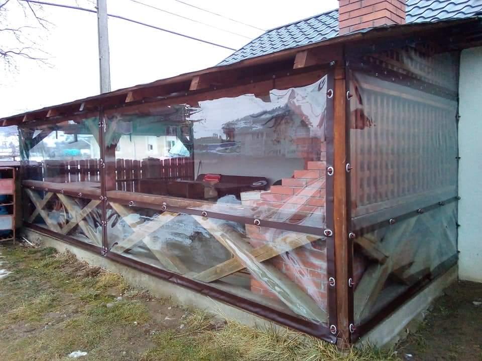 rulouri transparente folie terase balcoane foisoare