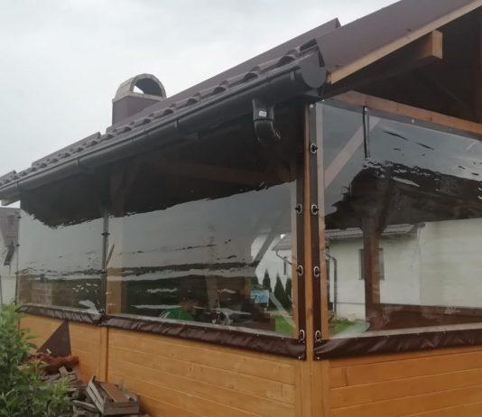 Rulouri transparente din folie pentru terase, balcoane, foişoare